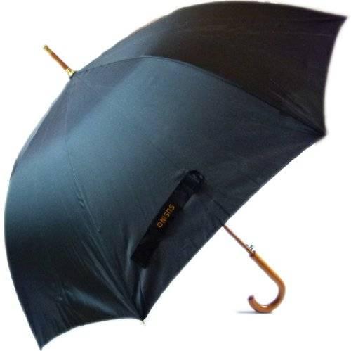 Top Moderner Hochwertiger Designer London Regenschirm mit Holz Griff - Großer Durchmesser Top Qualität Farbe Schwarz