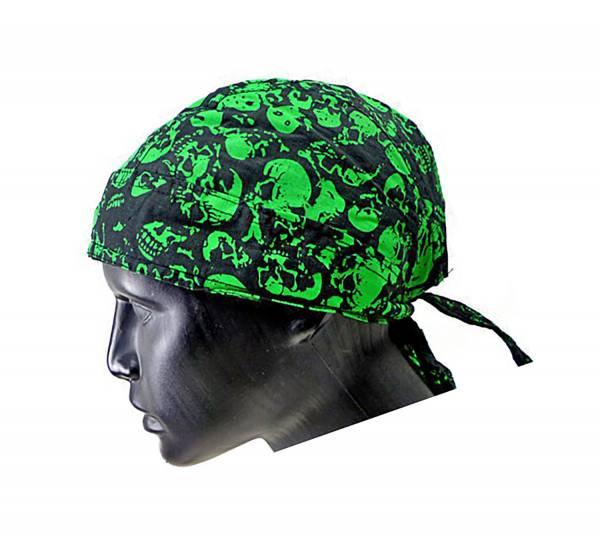 Kopftuch 2564 viele Kopf-Tuecher Bandana Headscarf Bandannas für Kinder und Erwachsene (Skull green)