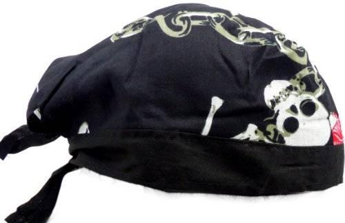 Kopf-Tuch 2305 viele Kopftuecher Bandana Head-scarf Bandannas Kinder und Erwachsene (Skull Chain)