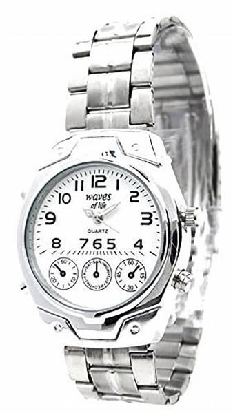 Herren-Uhr Damen-Uhren Metall-Armband silber elegante schlichte und klassische Metall Armbanduhr für Sie und Ihn Ox18