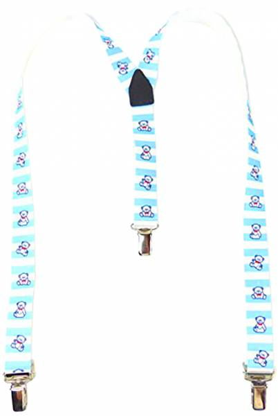 Kinder-Hosentraeger hell-blau Child-Suspenders light-blue mit Bärchen Motiv