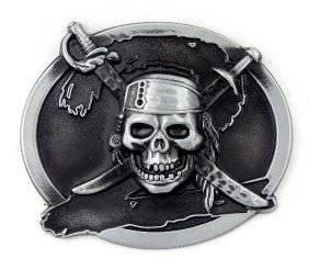 Guertelschnalle Herren Damen Wechselgürtelschnalle Metall Pirat Totenkopf Killer Koppel Gürtel Schnalle Schwert Black Metal Buckle 1428