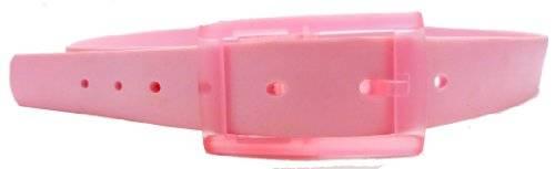 neon Silikon Gürtel einstellbare Längen - Farbe wählbar (ROSA)