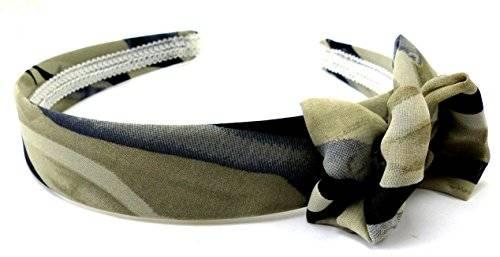 Haar-Reif 3590 Damen Haar Reifen beige creme schwarz Schleife H17