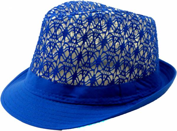 Sommer Hut blau Herren Damen Strand Huete Ibiza Hüte Designer Hüte Party Fedora Spezial Edition Neon Hut Sommer Trilby Strand Hut Designer Neon Fedora (Sunny Blue) 5082