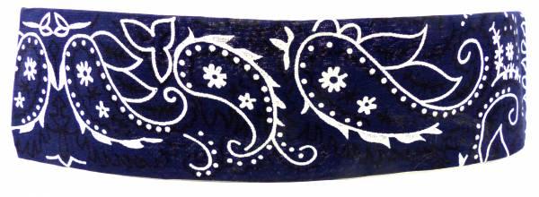 Haarband Haarreif Stoff Haarbaender Hair Ribbon blau pali. Haar Reifen PALESTI. Muster weiss (blau) 4806
