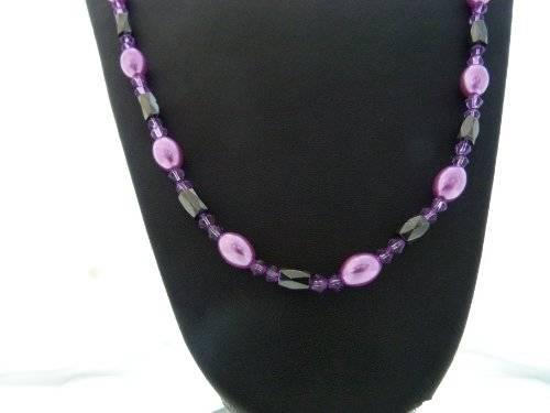 magnetische Halskette oder Aarmband viele Farben (lila-Stein)
