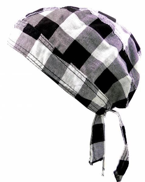 Kopftuch 4404 Kopftuecher Bandanas Headscarf Bandannas für Kinder und Erwachsene (KaroWeiss)