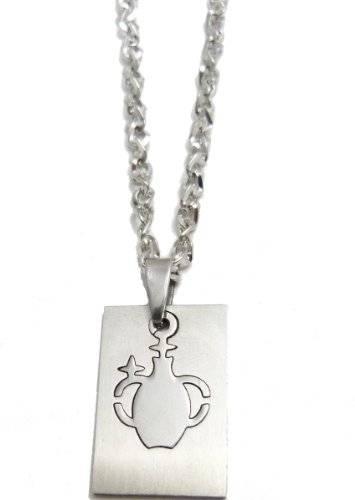 Halskette 50cm mit tollem Sternzeichen Anhänger - Wassermann