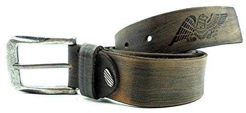 Guertel 1412 echt Leder-Guertel Leather Jeans Belt Business Leder Gürtel STONE BEIGE (130)