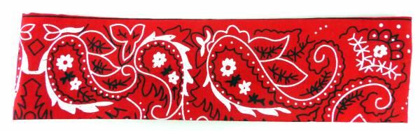 Haarband Haarreif Stoff Haarbaender Hair Ribbon rot pali. Haar Reifen PALESTI. Muster weiss (rot) 4807