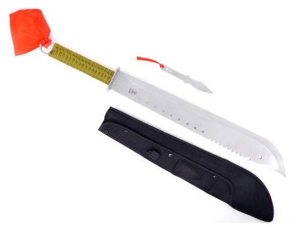 Machete XXL Messer-Set Outdoor  Schwert silber grün 66,5cm