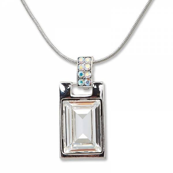 Tillberg Damen Hals-Ketten silber Damen-Collier mit Swarovski-Steinen besetzt Woman Necklace silver with Swarovski-Stone Set