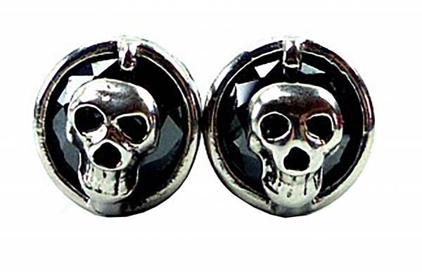 Herren Damen Ohrringe Totenkopf funny Skull 2 Stk schwarz
