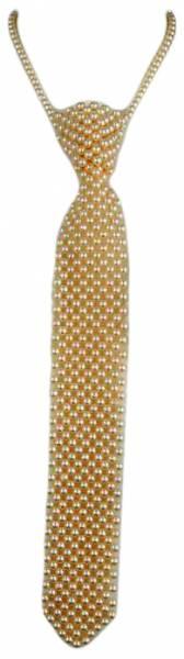 Perlen Krawatte Perlen Krawatte Damen Herren Krawatten Kette Univeral Größe 4879