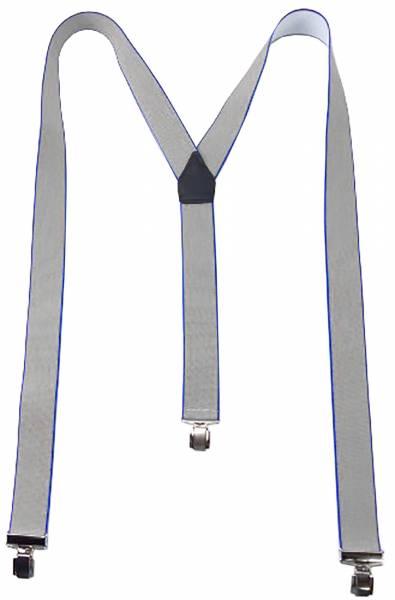 Designer Hosenträger starke Clips verschiedene Modelle (grau mit blau)