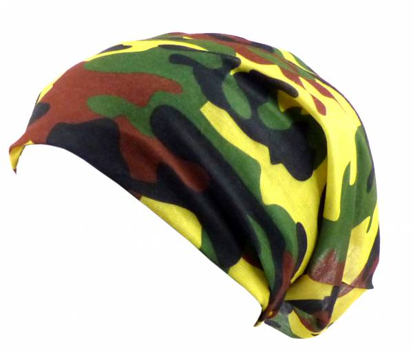 Beanie-Cap Herren Damen Stoff-Mützen Tarn Camo-Motiv Nicki-Tücher Kopf-Tuch Kinder Camouflage 18fach Universal Halloween Fasching Mundschutz Bandana Biker Halstuch Armband