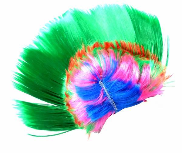 Deutschland-Perücke WM Fan-Artikel Herren Damen Perücken Punk-Rock Fasching Halloween Frisur Karneval Neon Haar Peruecken 30cm