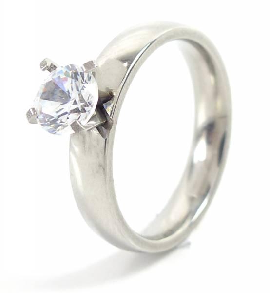 Ring 4429 edle Ringe Glamour Rings, Verlobungs-Ring veredelt X1 GRÖSSE (18)