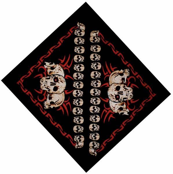Nickituch schwarz Totenkopf Motiv 53cm