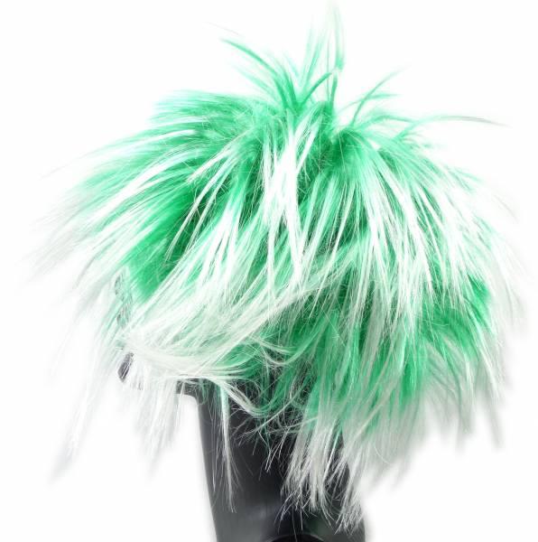 Perücke Punk Fasching Frisur 4371 Karneval Neon Haar Peruecken (GRÜN)