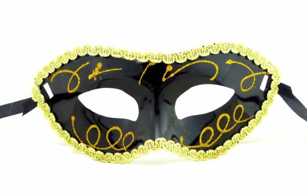 Masken Karneval Fasching Maske erotische Spitzen schwarz-gold Venezianische Halloween Maskerade Gesichtsmaske erotic Eye Mask