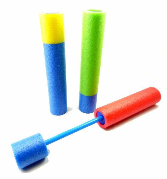 Wasser-Pistole Wasser Spritze Pool-Kanone Softgun Schaumstoff viele Farben 30cm NEU 4408