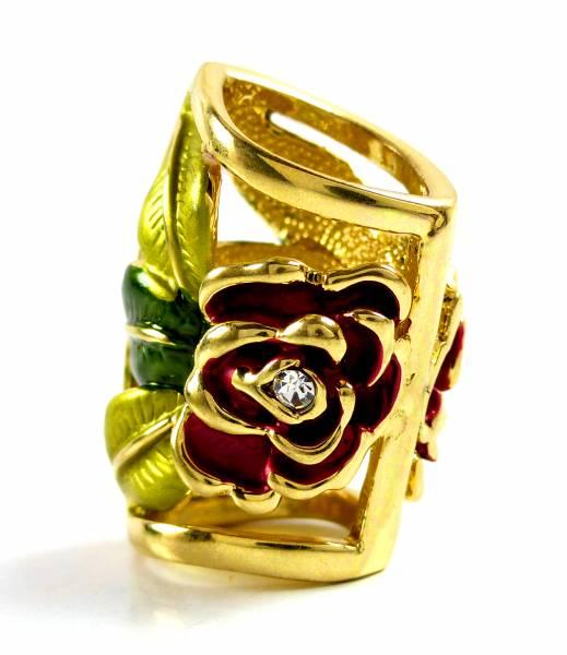 Manchetten 4565 Schal und Tuch Manchetten Strass Öse Tuecher Scarf Cuff (gold-rose)