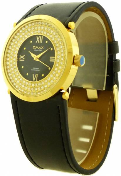 Damen Uhr Marken Uhren edler Damen Schmuck 4379 Armbanduhr Omax GoldStar