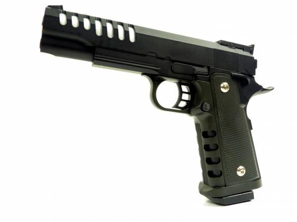 Softair Gun Airsoft Vollmetall R16 Federdruck Pistole 22cm 0,5 Joule