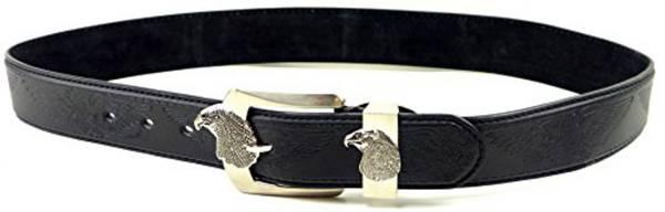 Guertel-Herren Damen-Gürtel schwarz Motiv Adler hochwertiger Gürtel mehrfach genäht Highend Belt BLACK HOWK-HR4 (95) 2488