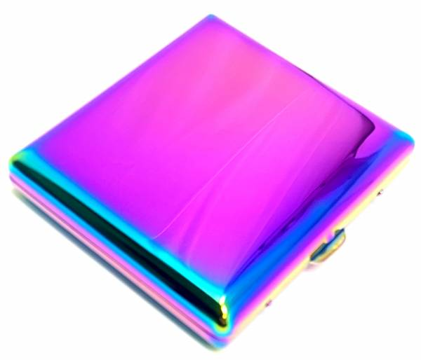 Premium Metall Zigaretten-Etui Zigaretten-Box Schachtel in Multi Color Farben