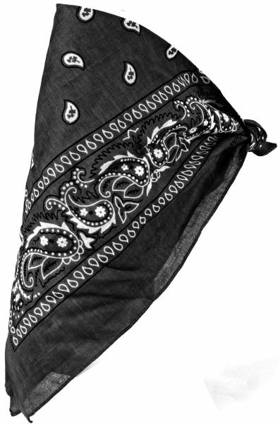 Herren Damen Kinder Kopftuch Schwarz 54cm