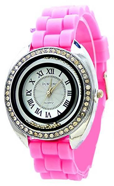 Damen-Uhren mit Strass edle Armband-Uhr pink hochwertige Damen Uhr Lady Watch Dunking Rosa