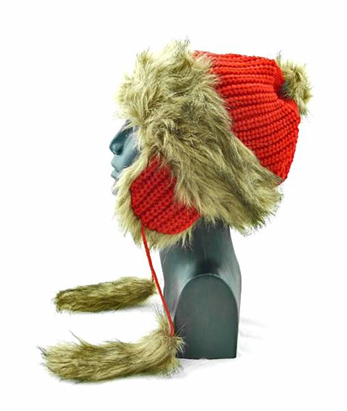 Winter Wollmütze icebaby in TOP Qualität aus 100% Baumwolle 45/2 ROT