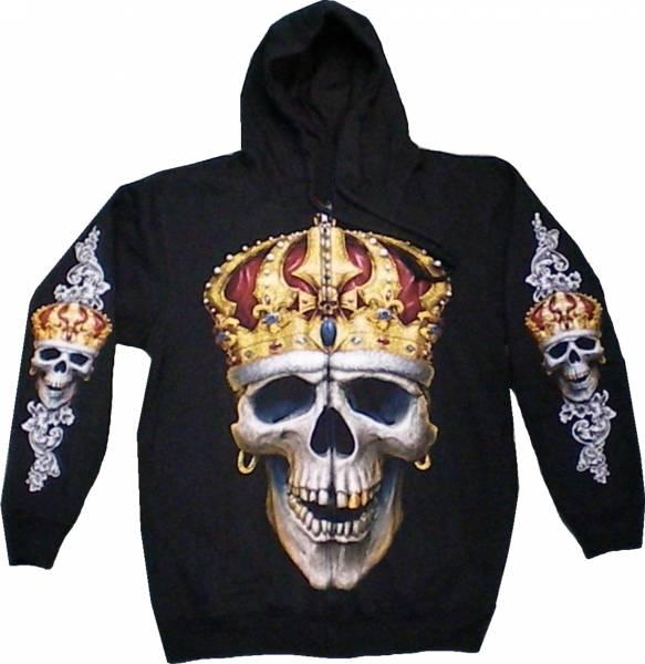 Gothic Jacke 4635 Herren Damen Pullover Biker Punk Kaputzen Biker Jacke S-XL black Sherpa Hoodie Sweatshirt Kaputzen Pulli #34