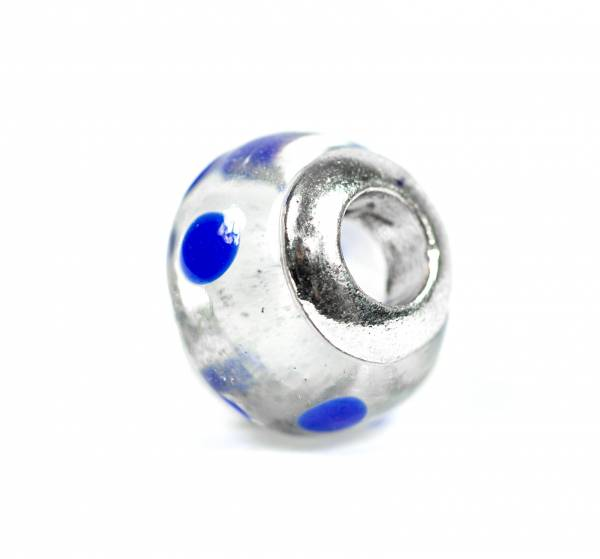 Beads Charms Schmuck Glasperlen Anhänger Unisex Zwischen-Element Kugel Blau Transparent