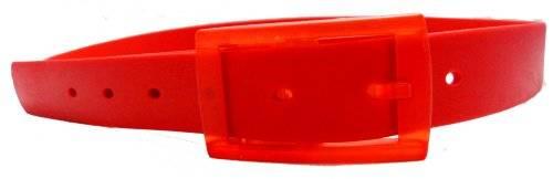 neon Silikon Gürtel einstellbare Längen - Farbe wählbar (ROT)