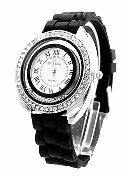 edle Damenuhr mit Strass Designer Armbanduhr hochwertige Sportuhr Lady Watch Dunking schwarz U85-4
