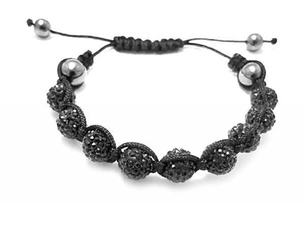 Armband 1848 edles Damen Armband Shamballa Designer Strass Armband Schambala mit Strasskugeln