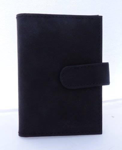 Geldboerse 3065 edles Business Portmonaie Geldbörse Scheckkarten Börse 7cm (schwarz)