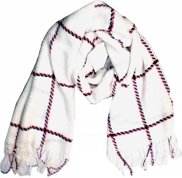 Schal Herren Damen Schal weiss modernes Strickmuster Winter Scarfs moderne Schals super Soft weich (weiss) 4781
