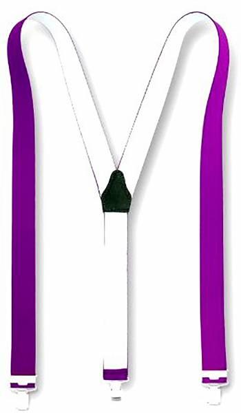 Hochwertige und modische Hosenträger viele Farben (lila)