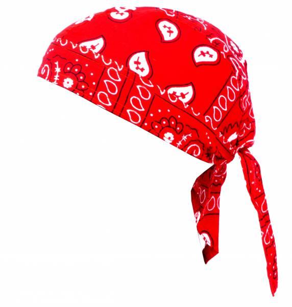 Kopftuch Paisl. Muster Kopftücher Headscarfs rot
