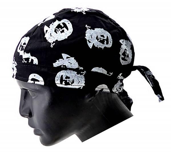 Kopftuch 2978 viele Kopftuecher Bandana Headscarf Bandannas für Kinder und Erwachsene (Kuba Black)