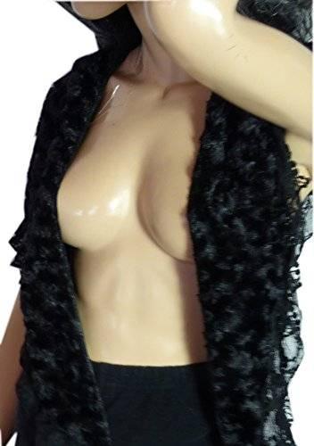 Damenschals Winter Sommer Schals XL Dreieckstücher Schal warme Drei Eck Tücher (Schwarz) 2415