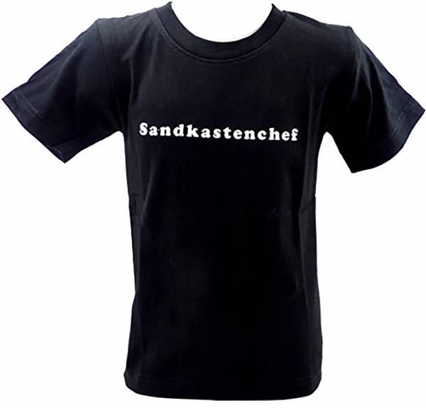tolle Kinder T-Shirts 1 - 6 Jahre viele Farben SANDKASTENCHEF (5-6 J, schwarz)
