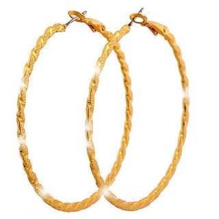 Creolen Damen Ohrringe XL edle gold Creolen Set 4cm große runde Ohr-Ringe Designer Schmuck 2Stk Ceolen Stecker 4927