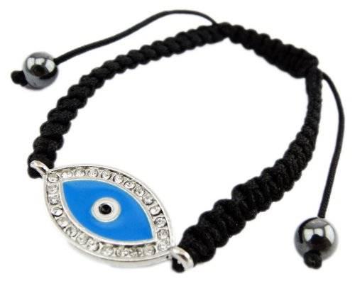 """Armband Sham-balla schwarz mit """"Shiva"""" Anhänger Strass"""