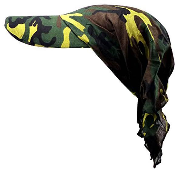 Kopftuch Schirm-Mütze Kopftuecher Herren Damen Tarn-Muster Universal Gr Headscarf Schirmmütze Bandannas für Kinder und Erwachsene CAMO-SCHIRM 2792